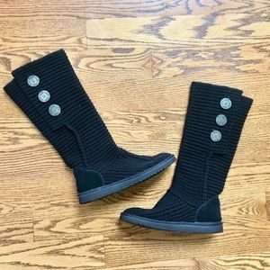 UGG Classic Cardy Sweater Boots. Size 7